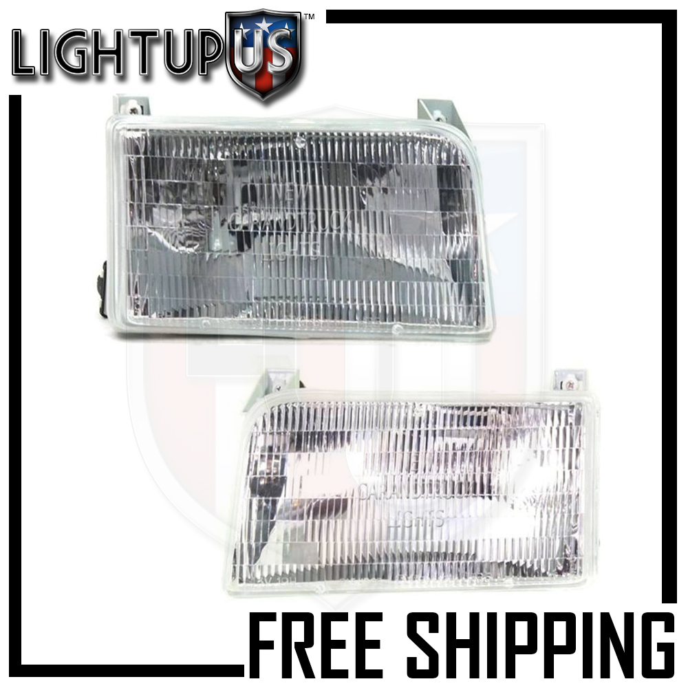 headlights headlamps pair left right set for ford bronco
